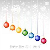 Happy New Year greeting card or background. — Stock Vector
