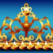 Stock Vector: 18century Greek Hanukkah Menorah.