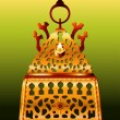 19th Century Morocco Safi Hanukkah Menorah. — Vector de stock