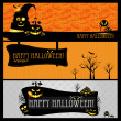 Halloween card or banner. — Stockvektor