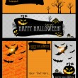 Halloween card or banner. — Stockvectorbeeld
