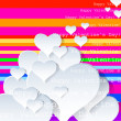 Heart Valentines Day background or card — Imagens vectoriais em stock