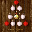 Happy New Year and Merry Christmas card or background — Vettoriali Stock