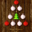 Happy New Year and Merry Christmas card or background — Imagen vectorial