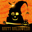 Halloween vector card or background — Stock Vector