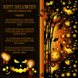 Halloween vector card or background — Vector de stock