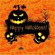 Vector de stock : Halloween grunge vector card or background. Vector art.