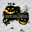 Halloween vector card or background. Vector art. — Stock Vector