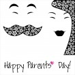 Stock Vector: Happy Parents Day background or card.