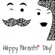 Happy Parents Day background or card. — Stock Vector