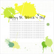 St. Patrick's Day background or card. — Stock Vector