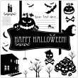 Halloween icons set. — Stock Vector