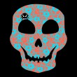 Colorful Skull with floral ornament. — Stockvectorbeeld