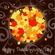 Stock Vector: Happy Thanksgiving Day card