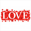 Love Valentines Day background or card. — Imagen vectorial