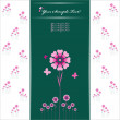 Vector Heart Flower background or card. — Imagen vectorial