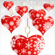 Heart Valentines Day background or card. — Image vectorielle