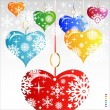 Heart Valentines Day background or card. — Imagen vectorial