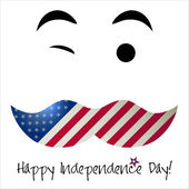 Independence Day card or background. July 4. — Stock Vector