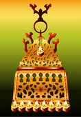 19 世紀のモロッコ サフィ ハヌカ本枝の燭台. — ストックベクタ