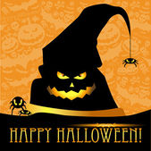 Halloween vector card or background — Vettoriale Stock