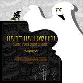 Halloween card or background. — Vettoriale Stock