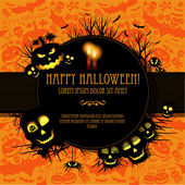 Halloween vector kaart of achtergrond. vector kunst. — Stockvector