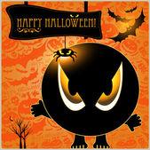 Halloween monster card or background. — Stock Vector