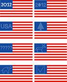 Ilustración de la bandera americana. — Vector de stock