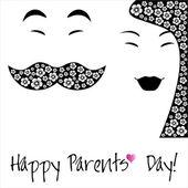 šťastní rodiče den pozadí nebo karta. — Stock vektor