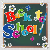 Back to school background or card. — Stockvektor