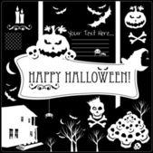 Halloween icons set. — Stock Vector