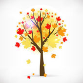 Beautiful autumn tree. — Vector de stock