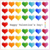 Heart Valentines Day background or card. — Stock vektor