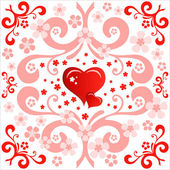 Heart Valentines Day background or card. — Stockvektor
