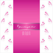 Vector Heart Flower background or card. — Stock Vector