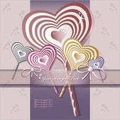 Hart valentijnsdag achtergrond of kaart. — Stockvector