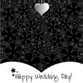 Wedding Day background or card. — Stock Vector