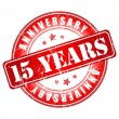 15 years anniversary stamp. — Stock Vector