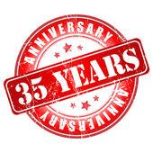 35 years anniversary stamp. — Stock Vector