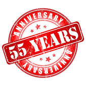55 years anniversary stamp. — Stock Vector
