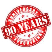 90 years anniversary stamp. — Stock Vector