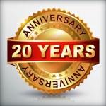 Anniversary golden label — Stock Vector #36100539