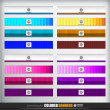 Banners or bars set — Stock Vector