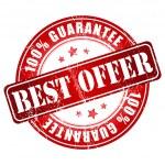 Best offer guarantee stamp — Stock Vector