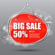 BIG SALE hanging sign — Stock Vector