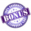 Bonus guarantee stamp — Stock Vector