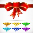 Colorful bows set — Stock Vector