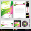 Lotus blossom template business set — Stok Vektör