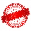 Red guarantee stamp. — Imagen vectorial